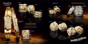Page from American Swiss rings catalogue
