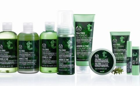 Items from the Body Shop